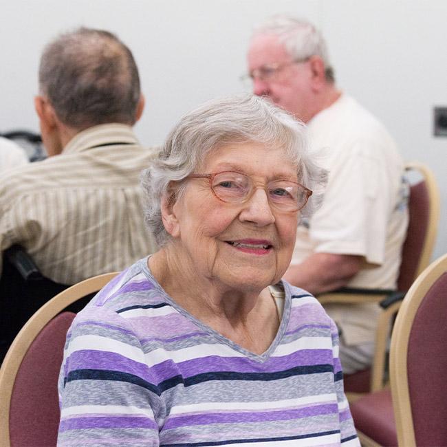 eldery woman receiving respite care services