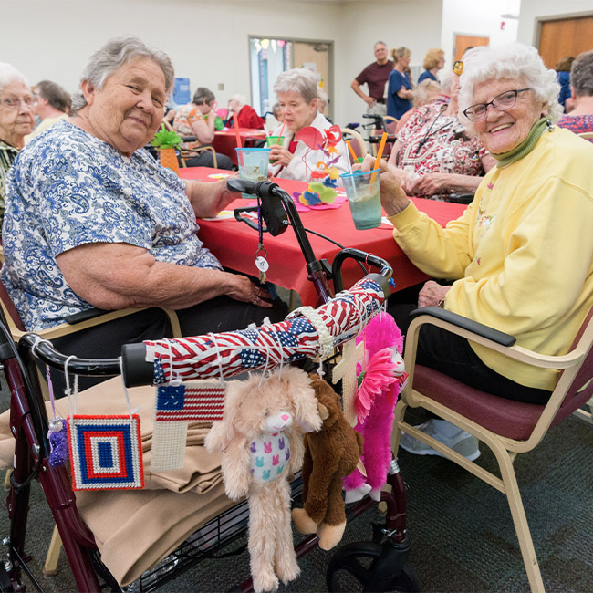 seniors enjoying activities at Kalamazoo assisted living community